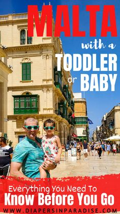 Visit Malta with a toddler or baby. Things to know before you go to Malta with kids! With tips on transportation, breastfeeding, cultural expectations, and more - everything you need to plan your family travel to Malta!