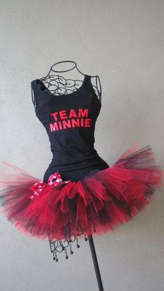 Running Tutus Team Mouse Themed Racing Tank AND by LuckyNumberTutu, $50.00
