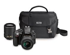 Nikon D3300 DX-format DSLR Kit w 18-55mm DX VR II & 55-200mm DX VR II Zoom Lenses and Case image 1
