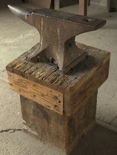 metal working stand;anvil reminds me of my Popop who was a blacksmith