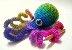 Crochet Tutorial Octopus Amigurumi Crocheted Octopus by AllSoCute, $4.50