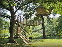 "Tree house ""Refuge"" at tree house hotel ""Cabane des Grand Lacs"" #France"