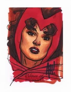 Scarlet Witch by Adam Hughes ✤ || CHARACTER DESIGN REFERENCES | キャラクターデザイン • Find more at https://www.facebook.com/CharacterDesignReferences if you're looking for: #lineart #art #character #design #illustration #expressions #best #animation #drawing #archive #library #reference #anatomy #traditional #sketch #development #artist #pose #settei #gestures #how #to #tutorial #conceptart #modelsheet #cartoon || ✤