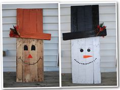 "2 sided Scarecrow/Snowman 40""x22"" $50.00"