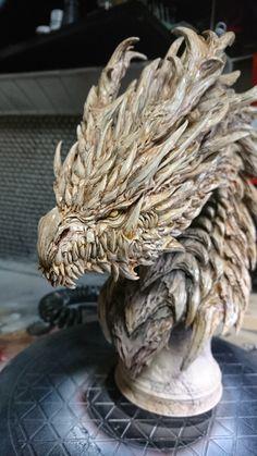 ArtStation - Dragon Chess Statue, keita okada Monster Design, Monster Art, Creature Concept Art, Creature Design, Dragon Chess, Cool Dragons, Beautiful Dragon, Dragon Artwork, Maquillage Halloween