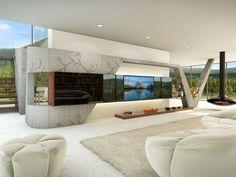 Noble obývací stěna tmavá / living room furniture