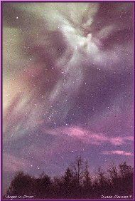 Menominee Angel, northern lights