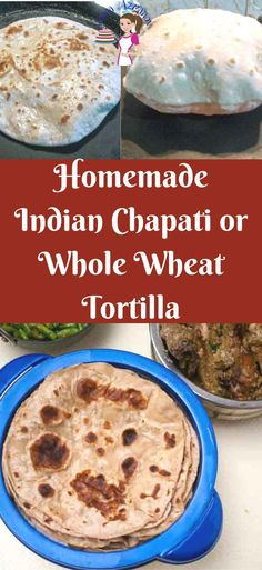 Indian Chapati is a flatbread recipe made with whole wheat flour similar to the whole wheat tortilla. You can serve this homemade chapati with Indian food Indian Bread Recipes, Chapati Recipes, Flatbread Recipes, Mexican Recipes, Recipes With Flour Tortillas, Whole Wheat Tortillas, Homemade Tortillas, Homemade Chapati, Chapati Flour