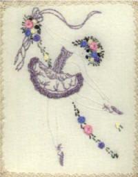 "** ""BellaTina Ballerina""  Brazilian Dimensional Embroidery Pattern  @jdr-be"