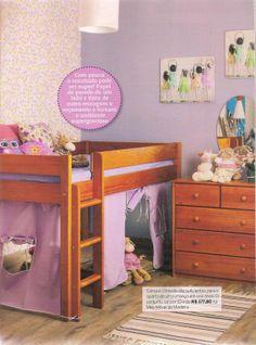 A revista Decorar Mais Por Menos Kids montou um quarto de menina superfofo com os móveis da MMM: http://www.meumoveldemadeira.com.br/produto/cama-com-escrivaninha-bella-luna-cerezo http://www.meumoveldemadeira.com.br/produto/comoda-5-gavetas-flora-cerezo