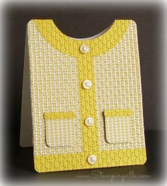 Cute sweater card! #cardmaking #Stampinup #shapedcards