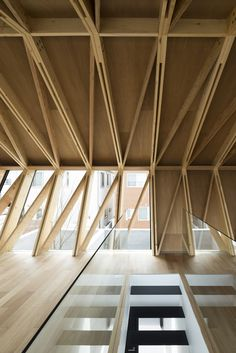Best Ideas For Architecture and Modern Design : – Picture : – Description Gallery – Wrap House / APOLLO Architects & Associates – 4 Bamboo Structure, Timber Structure, Timber Roof, Timber Cladding, Timber Architecture, Architecture Details, Computer Architecture, Parametric Architecture, Futuristic Architecture