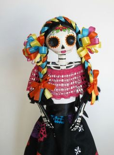 Mexican Paper Mache Catrina Papel Picado by LaCasaRoja on Etsy