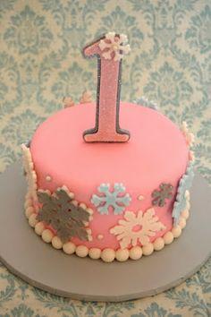 Winter ONEderland Cake.
