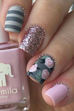 Pinned for the floral nail art