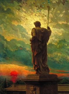 As a Tarot Image, The Emperor by James Carroll Beckwith, 1912, the King, Father, Builder, Protector.
