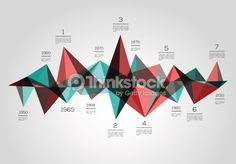 Clipart vectoriel : Infographics timeline, made with triangles