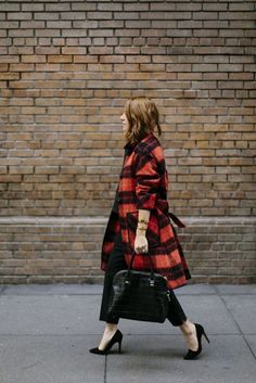 Trendy Plaid Coats Glamsugar.com Red Plaid Coat