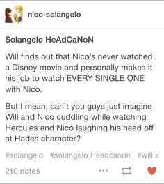 A brilliant headcanon for those cuties :)<<<<I want to watch Hercules's with those two