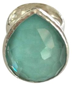 Ippolita Sterling Silver Doublet Quartz Turquoise Lollipop Ring NEW $595.00 #Ippolita #Cocktail#new #nwt #nib #designer #newlisting #endingsoon #freeshipping #30return #sale #auction #discounted #markdown  #mop #motherofpearl #cocktail #lollipop  #oval #hammered #doublet #quartz #wonderland #ring #band #3stone ##ippolita #sterlingsilver #turquise #aqua  #silver925
