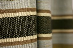 Stripes go horizontal in caramels and neutral shades