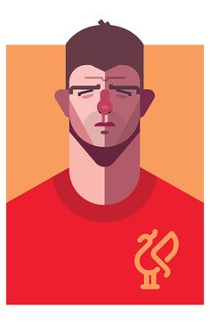 Match Of The Day // Steven Gerrard // football art // by Daniel Nyari