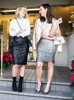 d9d61f63e Holiday Party Outfits · Sydne Style shows holiday outfit ideas with fashion  blogger ashley fultz in sequin skirt trend