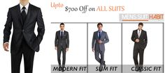 Limited Time Offer! Salvatore Exte Formal Fashion Suit. Available in different colors & size. http://www.menssuithabit.com/men-suits-clothing/modern-trim-fit-suits.html
