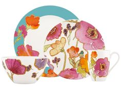 Floral Fusion by Lenox. $60 4 pc place setting. Available at Jan's