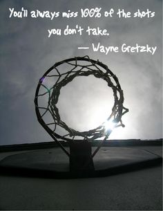 It's odd that this has a picture of a basketball net with a quote from a hockey player -- but the quote rings true!