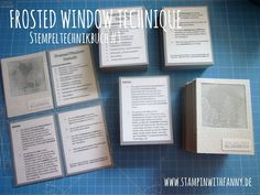 stampin with fanny: Frosted Window Technik - Stempeltechnikbuch #3