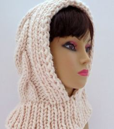 PDF 111 Knitting Pattern Hat Hood Snow Queen por WomanOnTheWater