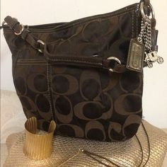 Coach Brown Logo Shoulder bag - Beautiful large Coach logo Bag, excellent condition - maybe used 1 or 2 times Bags Shoulder Bags