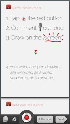 re:mark  목소리 녹음하고 메모할수 있는 앱