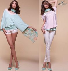 Pastel colors are👌🏼 IN! You'll feel as free 🎐🕊️ as a bird in this airy tunic.    #vipitalianfashion #fashion #madeinitaly #modaitaliana #clothing #style Italian Fashion, Pastel Colors, Vip, Tunic, Clothing, Free, Shopping, Style, Italian Style Fashion