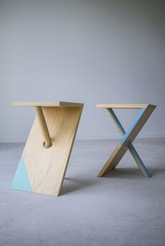 I designed and started making these stools in 2013 and since have taken a handful of orders from friends. Despite the visual illusion of the dowel, this piece of furniture is very stable. The stool is...