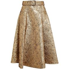 LANVIN Floral Brocade Full Skirt (€2.165) ❤ liked on Polyvore featuring skirts, saias, bottoms, gonne, brown skirt, wide skirt, lanvin skirt, brocade skirt and lanvin