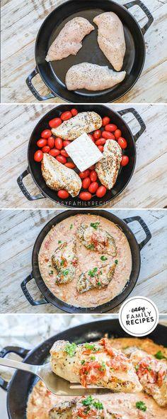 This recipe is a twist on the viral TikTok Baked Feta Pasta recipe, but it includes a tasty protein! Juicy chicken covered in a rich sauce.. does it get any better than that? Feta chicken recipes might scare you if your family isn't a fan of feta or tomatoes.. but trust that your family will love these flavors anyway! Feta cheese recipes can be overpowering with flavor but this one is bold and just right. Chicken breast recipes are everywhere but you've never had one like this! Feta Chicken, Yum Yum Chicken, Baked Chicken, Easy Family Meals, Easy Meals, Weeknight Meals, Homemade Tomato Sauce, Food Dishes, Main Dishes