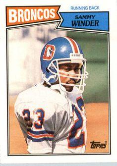 1987 Topps 33 Sammy Winder Denver Broncos | eBay