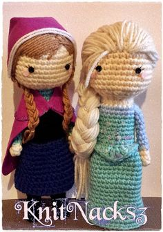 Elsa y Anna amigurumis