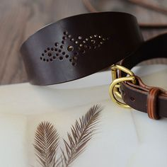 Unique Dog Collars, Leather Dog Collars, Messing, Leather Craft, Poodle, Brogue, Aiko, Belt, Schneider