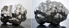 Richard Hutten's Cloud Chair, produced by Gallery Ormond in Geneva, is aluminium cast and nickel-plated.