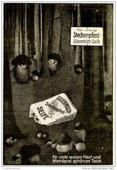 Original-Werbung/ Anzeige 1910 - STECKENPFERD LILIENMILCH - SEIFE - ca. 90 x 130 mm