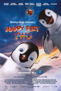 Happy Feet Two November 2011  Very light-hearted movie that is fun for many people. Robin Williams is simply amazing once again!