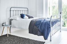 Our best selling Oliver Bed in grey is elegantly cool, creating a fresh and uncluttered summer bedroom look.   And in our Summer Sale, you can enjoy 30% off this stunner. Bedroom Furniture Stores, Modern Bedroom Furniture, Bed Furniture, Summer Bedroom, Black Luxury, Black Bedding, Metal Beds, Luxury Bedding, King Size