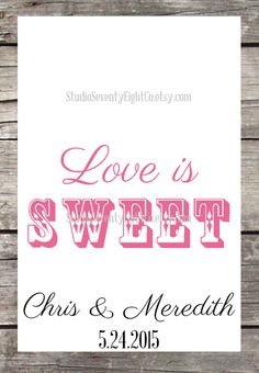 Love is Sweet Take a Treat- Wedding Candy Buffet Bags - Wedding Favor Bags - Candy Treat Bags - Custom Candy Bar Buffet Treat Bag -106