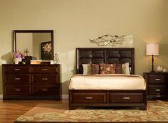 Levine 4-pc. King Platform Bedroom Set w/ Storage Bed | Bedroom Sets | Raymour and Flanigan Furniture & Mattresses