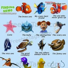 1000 images about nemo on pinterest finding nemo keep for Finding nemo fish names