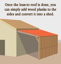 Tip to build a lean-to roof                                                                                                                                                                                 More