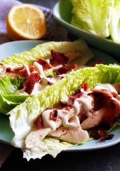 What's better than bacon? Ranch dressing of course! These Chicken Bacon Ranch Lettuce Wraps will quickly become your new go-to lunch!